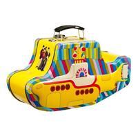 The Beatles Yellow Submarine Embossed Tin Tote Retro Lunch Box Travel Metal Gift