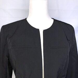 Ann Taylor Black Blazer Size 8 Modern Jacket Womens Size Medium zip