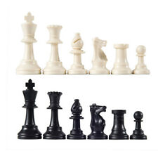 32pcs/LotsChess Pieces Plastic International Chess Chessmen Game Black&White New