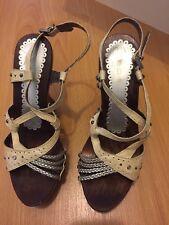 bebe wedge sandals Size 7