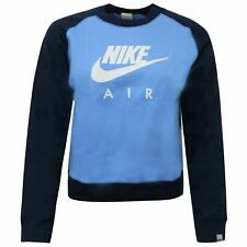 Nike Air Womens Sweatshirt Logo Graphic Jumper Blue Navy 294192 412