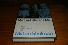 MARILYN,HITLER AND ME BY MILTON SHULMAN-SIGNED COPY