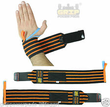 """Deluxe Wrist Wraps Wrist Support 18"""" Long Pair of 2 Size Thumb loops"""