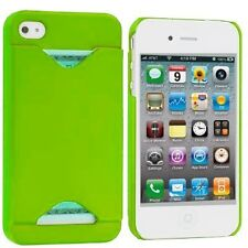 Credit Card ID Case for iPhone 4 / 4S - Neon Green