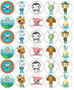 30x Octonauts Cupcake Toppers Edible Wafer Paper Fairy Cake Toppers