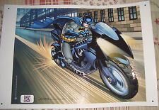 """BATMAN on Batpod  18"""" x 12"""" Poster Suitable for Framing Protective UV Coated"""