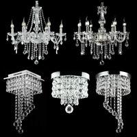 Modern Chandelier Crystal LED Ceiling Light Fixture Pendant Hanging Lamp Elegant