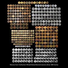 MEXICO COIN COLLECTION OVER 380 COINS MIXED DATES / DENOMINATIONS