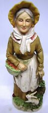 Homco Grandma Figurine # 1409 - Apples & Bunnies