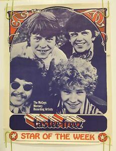 The McCoys Tastee Freez Poster Vintage Original Pin-up 1960s Music Memorabilia