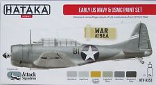 Hataka HTK-AS53 Early WW2 US NAVY AND MARINE AIRCRAFT 6 couleurs paint set