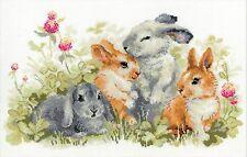 RIOLIS  1416  Funny  Rabbits  Broderie  Point de Croix  Compté