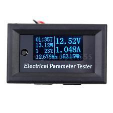 7 in 1 OLED Panel Power Energy Meter Voltmeter Time Current Capacity Tester S8V8