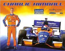 2014 CHARLIE KIMBALL novo nordisk INDIANAPOLIS 500 PHOTO CARD POSTCARD INDY CAR