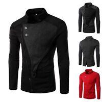 Mens Stylish Casual Winter Hoodie Coat Slim Fit Jacket Zip Sweatshirt Outerwear