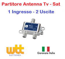 Partitore Divisore Splitter Antenna Tv Satellitare 1 INGRESSO 2 USCITE con F