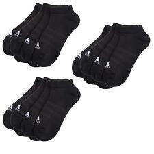 9 Paar ADIDAS NoShow Sneaker Socken schwarz 39-46 NEU 9er Pack Füßlinge Low Cut