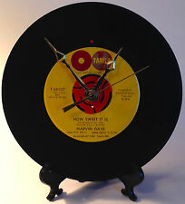 "Recycled MARVIN GAYE 7"" Record / How Sweet It Is / Record Clock"