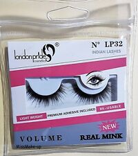 London Pride Real Mink False Lashes With Glue LP32 Indian Lashes