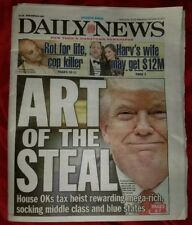 DAILY NEWS Newspaper 12/20/17 Art Of The Steal Pump Unicorn Up NY Islanders Mets
