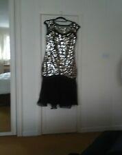 Full length women's Black Evening Dress Size12/14