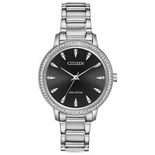 -NEW- Citizen Ladies Silhouette Crystal Eco-Drive Watch FE7040-53E