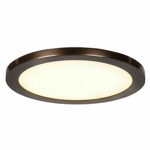 Access Lighting Disc Bronze Integrated LED Flushmount with Acrylic Lens