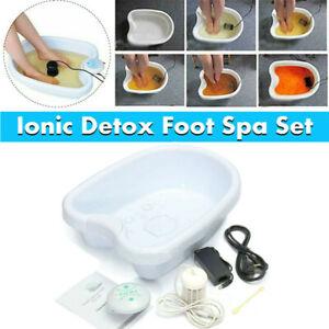 Ion Ionic Detox Foot Bath Spa Machine w/ Tub Array Cell Cleanse Health Care Tool