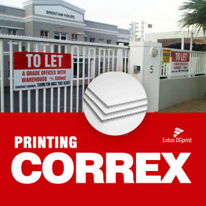 Correx Signs Printed Full Colour -  Lamp Post Sign -  Site Builders Boards, 4mm