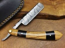 TITANs Handmade Damascus Steel Straight Razor Cut Throat Beautiful Gift ST8 Auc