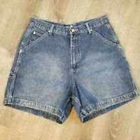 Vintage Denim High Rise Mom Shorts 14 Cargo Zipper Blue Vintage