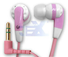 High Quality White/Pink Silicon Earbuds Earphones Flat Anti Tangle Cord for MP3