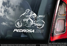 Dani Pedrosa #26 - Moto GP Car Window Sticker - Motorbike MotoGP Motorcycle Sign