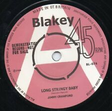 JIMMY CRAWFORD/DICKIE LOADER 45 RE-LONG STRINGY BABY/CHILLS AND FEVER-UK ROCKERS