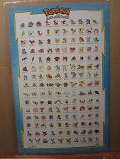 Vintage Pokemon nintendo 1998 wall poster 1228