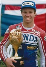 Randy MAMOLA SIGNED 12x8 Photo Autograph AFTAL COA HONDA Champion Rider MOTOGP