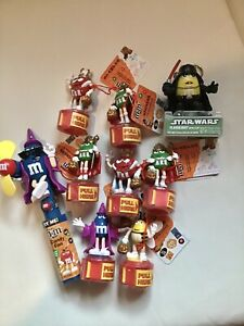 M&M Lot Of 9 HALLOWEEN 🎃 Collectibles From 2008 !  Plus Candy Fan & STAR WARS !