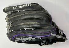 "Louisville Slugger Xeno Leather Baseball Glove 12.5"" RHT Glove Black/Purple"
