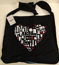 NEW Sephora VIB ROUGE Makeup Heart Tote Bag Black