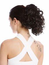 Hair Piece Ponytail short Voluminous Curly Curls Chestnut Braun Strands