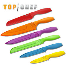 Top Chef 6 Pieces Professional Grade Colored Knife Set with Blade Guard TC-14