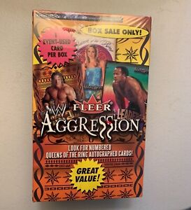 2003 Fleer Aggression WWE Trading Cards Sealed Box - Look For Autographs