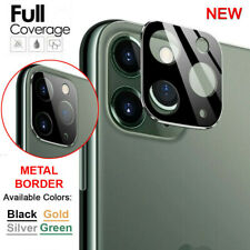 For iPhone 11 Pro Max FULL COVER 20D Tempered Glass Camera Lens Metal Protector