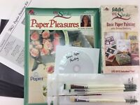 Donna Dewberry One Stroke Paper Painting Kit : DVD + Book + Brushes by FolkArt