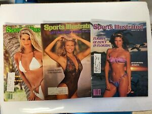 Christie Brinkley , 1979, 1981, 1982  Sports Illustrated Swimsuit Magazines (3)