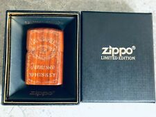 Japanese Zippo 3D Wooden Jack Daniels No.7 Whiskey Lighter - Limited Edition