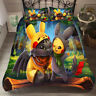 Pikachu&Toothless Single/Double/Queen/King Size Bed Quilt/Doona/Duvet Cover Set