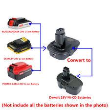BLACK&DECKER/STANLEY/PORTER-CABLE 20V Li-ion Batteries to Dewalt DC9096 Adapter