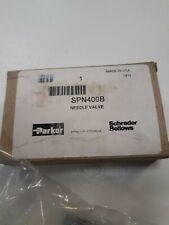 Parker SPN400B Needle Valve Brass 2000 PSI Adjustable Metered Flow