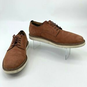Cole Haan Tanner Plain Oxford Shoes Mens Size 10 M Nubuck Leather Lace Up Casual
